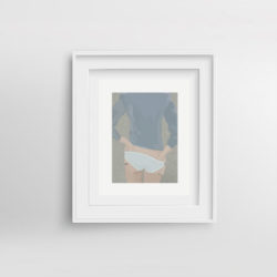 cheeky-framed-art-print-by-paola-van-der-hulst