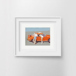 fast-lane-framed-art-print-by-paola-van-der-hulst