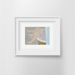 in-the-tub-framed-art-print-by-paola-van-der-hulst