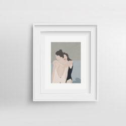 les-amis-framed-art-print-by-paola-van-der-hulst