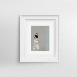 polka-frida-framed-art-print-by-paola-van-der-hulst