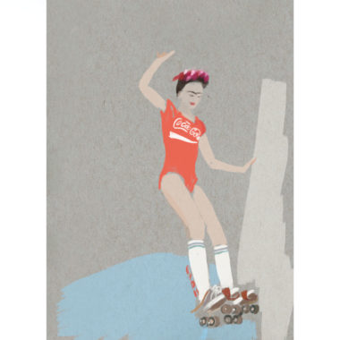 roller-frida-art-print-by-paola-van-der-hulst