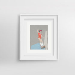 roller-frida-framed-art-print-by-paola-van-der-hulst