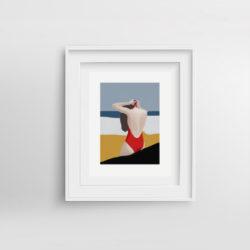 Beach-Bum-II-framed-art-print-by-Paola-van-der-Hulst