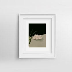 Dear-Ren-Paola-van-der-Hulst-Art-print-framed